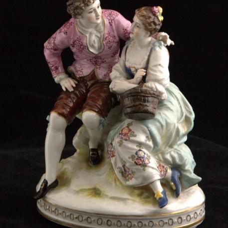 Влюбленная пара, Volkstedt, Германия, 1920 гг