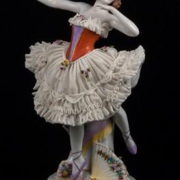 Балерина с веером, кружевная, Sitzendorf, Германия, кон. 19 в