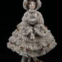 Девушка в кружевном капоре, кружевная, Volkstedt, Германия, до 1935 г