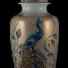 Декоративная ваза с крышкой в китайском стиле, Alka Kaiser, Германия, 1970 гг