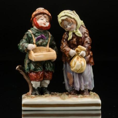 Двое нищих детишек, Volkstedt, Германия, кон. 19 - нач. 20 вв