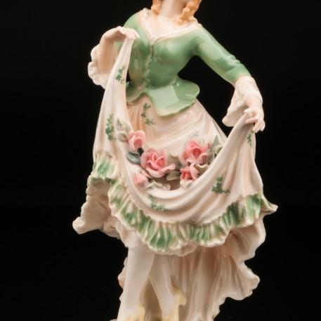 Девушка с розами в подоле, Karl Ens, Германия, 1920-30 гг