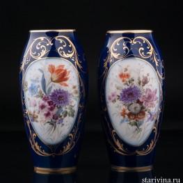 Парные декоративные вазы, Limoges, Франция