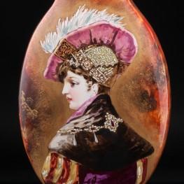 Декоративная ваза с портретом дамы, Сен-Дени, Франция, сер. 19 в