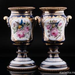 Декоративные вазы Птицы, Франция, 19 в