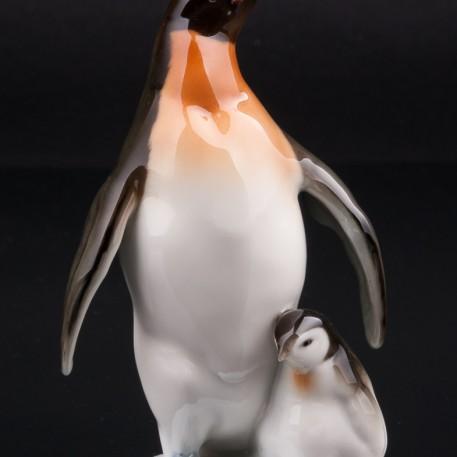 Пингвин с пингвиненком, Hutschenreuther, Германия, 1960 гг