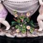Два ангелочка с рыбацкой сетью, ваза, Германия, кон. 19 - нач. 20 вв