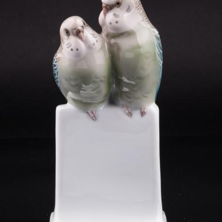 Два волнистых попугайчика, Rosenthal, Германия, 1930 г