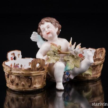 Ангелочек с голубями, Ens & Eckert, Германия, 1877-87 гг