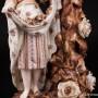 Подсвечник, девушка и Амур собирают розы, Германия, 19 в