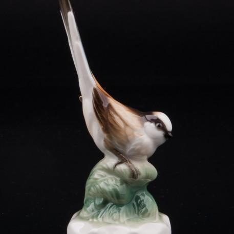Длиннохвостая синица, миниатюра, Hutschenreuther, Германия
