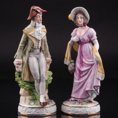 Пара в костюмах 19 века, Sitzendorf, Германия, вт. пол. 20 в