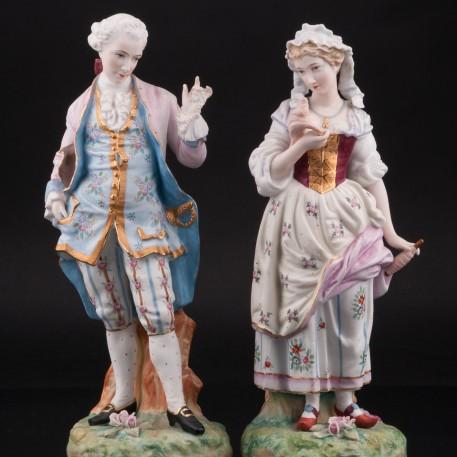 Кавалер и крестьянка, пара, Франция, кон. 19 в
