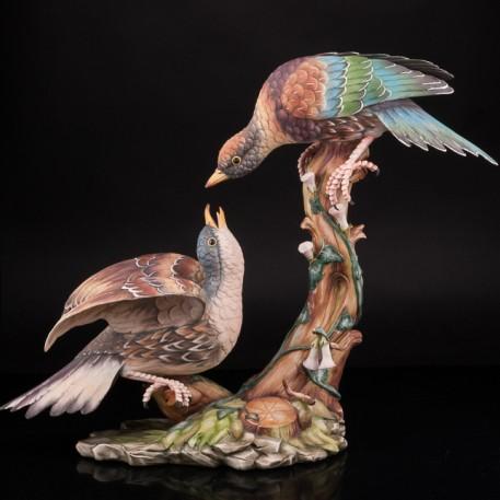 Статуэтка птиц Куропатки, Capodimonte, Италия.