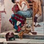 Картина маслом Картина Пара влюбленных, Германия, 1956 г.
