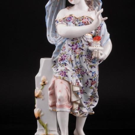 Девушка с масляной лампой, Англия, кон. 19 в
