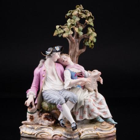 Пара под деревом, Meissen, Германия, вт. пол. 19 в
