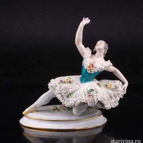 Балерина в танце, кружевная, Volkstedt, Германия, кон. 19 - нач. 20 вв