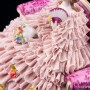 Дама с веером и букетом цветов на диване, кружевная, Muller & Co, Германия, нач. 20 в