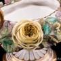 Низкая ваза с лепными цветами, John Bevington, Великобритания, 1872-1892 гг