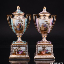 Две вазы, Дрезден, Германия, 19 в