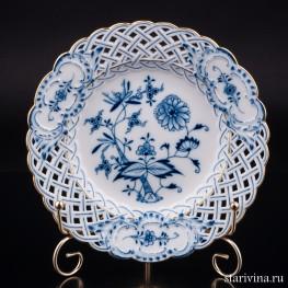 Тарелка с ажурным краем, Meissen, Германия, кон. 19 в