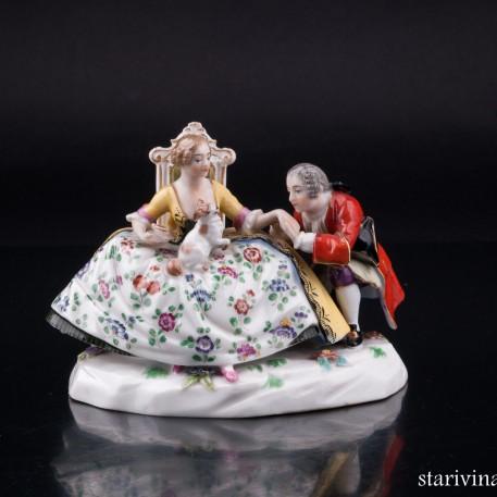 Галантая пара, миниатюра, Ludwigsburg, Германия, нач. 20 в