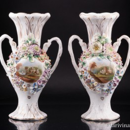 Две декоративные вазы , Coalport, Великобритания, кон. 19 - нач. 20 вв