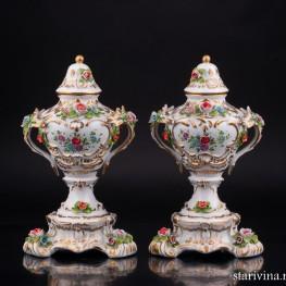 Две вазы , Sitzendorf, Германия