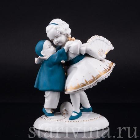Маленький пьеро и девочка с веером, Hertwig & Co, Katzhutte, Германия, 1920-30 гг