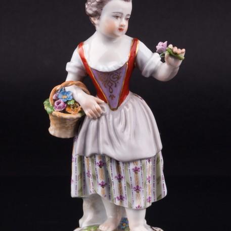 Девочка с цветком, Meissen, Германия, 19 в