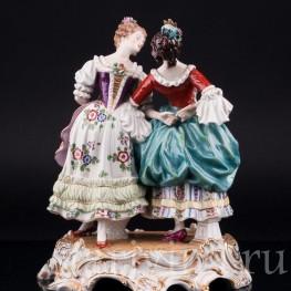 Две танцующие девушки, Dressel, Kister & Cie, Германия, нач. 20 в