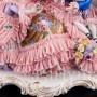 Дама с детьми на диване, кружевная, Volkstedt, Германия, вт. пол. 20 в