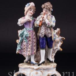 Пара с флейтой, Dressel, Kister & Cie, Германия, нач. 20 в