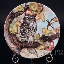 Три декоративные тарелки Мудрые совы, Coalport, Великобритания, 1990 г