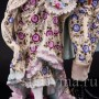 Старинная фигурка из фарфора Прогуливающаяся пара, Volkstedt, Германия, кон. 19 - нач. 20 вв.