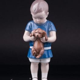Мальчик со щенком, Bing & Grondahl, Дания, 1940-50 гг
