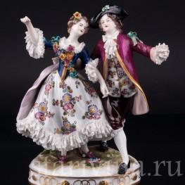 Танцующая пара, кружевная, Volkstedt, Германия, до 1935 г