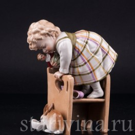 Девочка и кролик, Muller & Co, Германия, нач. 20 в