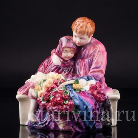 Дети продавцы цветов, Royal Doulton, Великобритания, вт. пол. 20 в