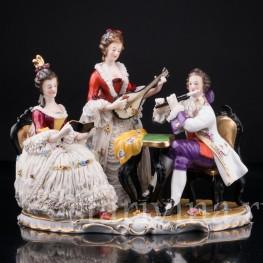 Музыкальное трио, кружевная, Ackermann & Fritze, Германия, нач. 20 в
