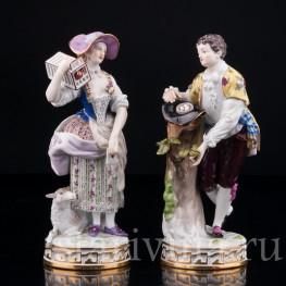 Фарфорвая статуэтка Пасторальная пара, Meissen, Германия, кон. 19 - нач. 20 вв.