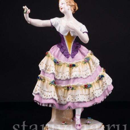Балерина с цветком, Тюрингия, Германия, кон. 19 в