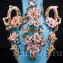 Голубая ваза с цветами, Франция, кон. 19 в