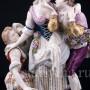 """Старинная фарфорвая композиция """"Непростой выбор"""", Volkstedt, Германия, 19 в."""