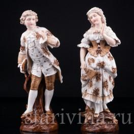 Галантная пара, Richard Eckert & Co, Германия, 19 в
