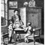 """""""На уроке"""", парные вазочки с детьми, Unger, Schneider & Cie, Германия, нач. 20 в"""