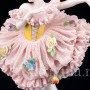 Балерина в розовом платье, кружевная, Muller & Co, Германия, нач. 20 в