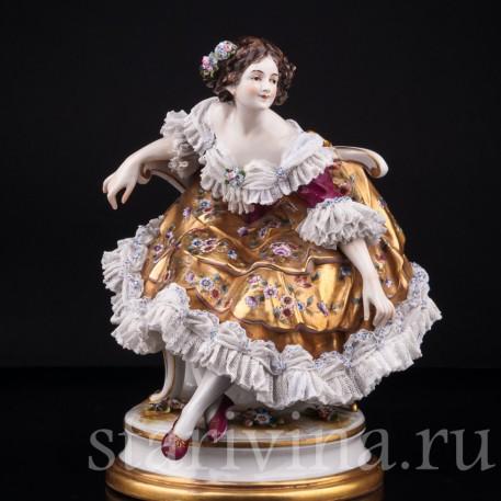 Балерина после выступления, кружевная, Дрезден, Германия, до 1935 г