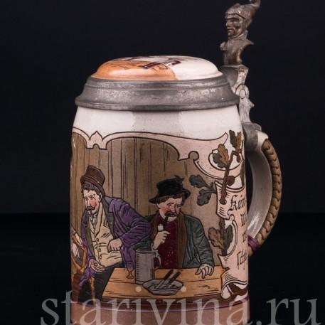 Кружка в Трактире, 0.5 л, Marzi & Remy, Германия, 1900 гг